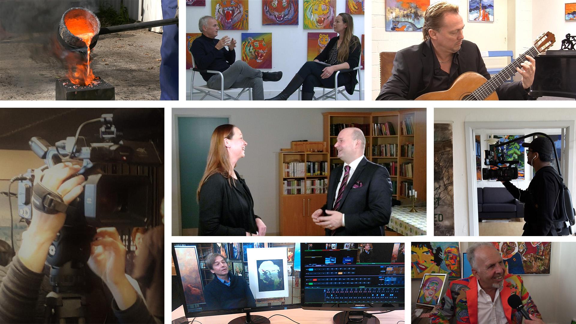 Collage af billeder fra forskellige events med Kultur Kanalen